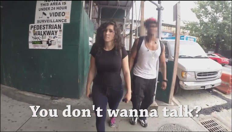 A woman walking on the streets of Manhattan for a full day stands to get catcalled more than 100 times, according to a nonprofit group trying to end street harassment.