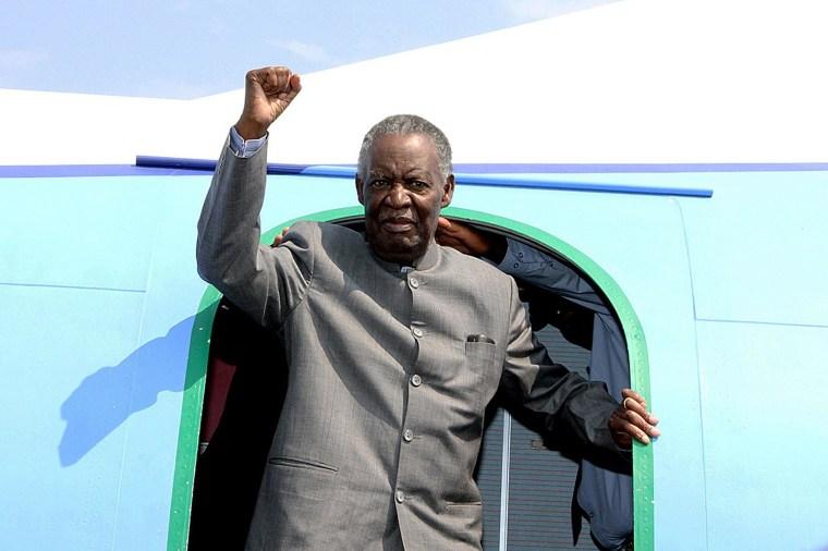 Image: Zambian President Michael Sata on September 10