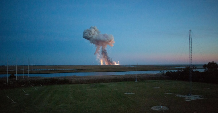 Image: Unmanned Antares Rocket Explodes At Launch On Wallops Island
