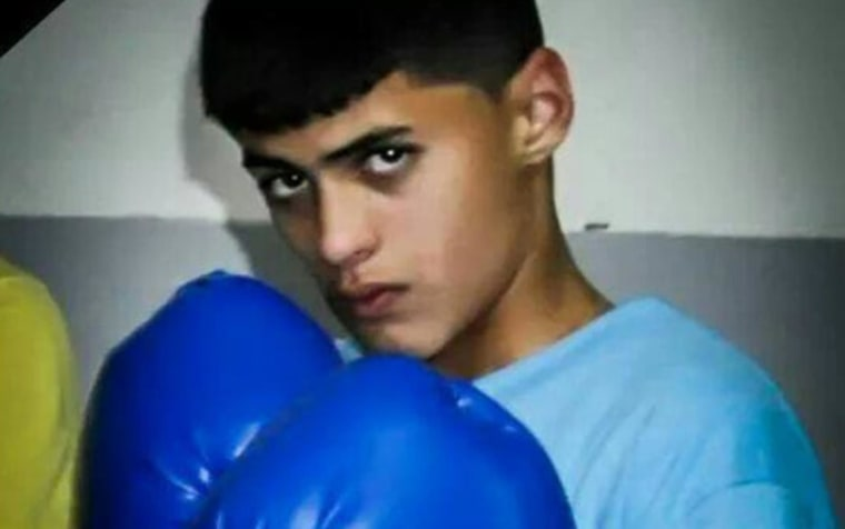 Palestinian-American Orwah Khalek, seen in an undated family photo, was shot dead in a confrontation with Israeli forces in his West Bank hometown of Silwad. According to Israeli officials, the 14-year-old was shot because he was hurling a firebomb.