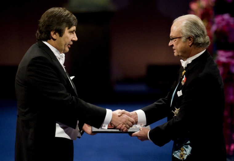 Image:  Andrei Geim receives the Nobel Prize
