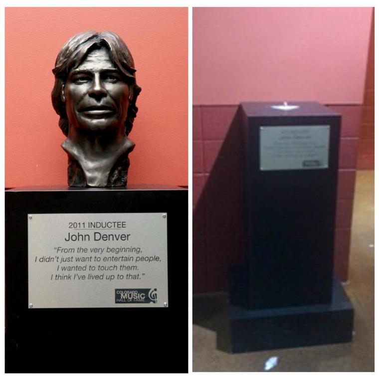 John Denver bust stolen.
