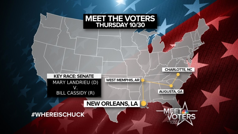 """Chuck Todd finishes the """"Meet the Voters"""" road trip in Louisiana."""