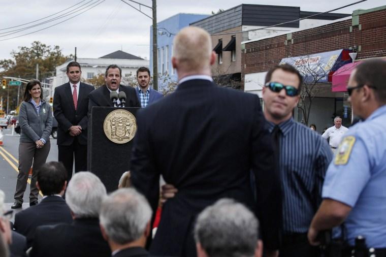 Image: Gov. Chris Christie Marks Second Anniversary Of Hurricane Sandy
