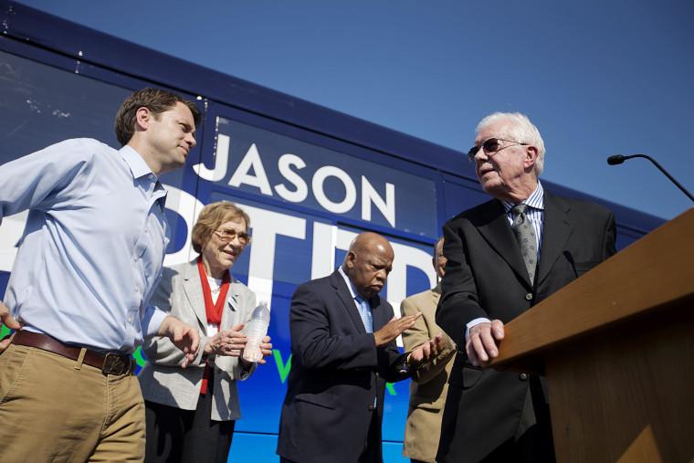 Image: Jason Carter, Jimmy Carter, John Lewis, Rosalynn Carter