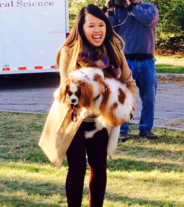 Image: Nurse Nina Pham reunites with her dog Bentley on Nov. 1.