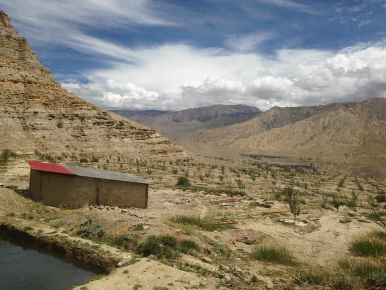 The newly built greenhouse in Ghilling Village inside Upper Mustang Nepal.