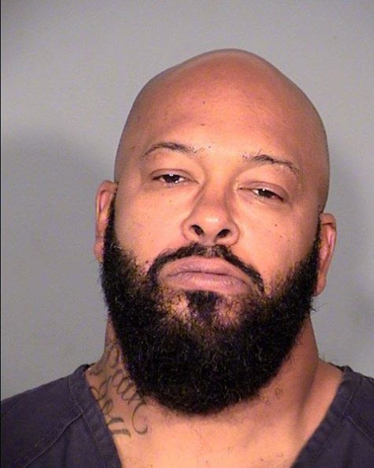 """It was reported November 3, 2014 that Marion """"Suge"""" Knight has been hospitalized after falling in his jail cell and complaining of dizziness and chest pains in Las Vegas, Nevada.  Knight is being held on felony robbery charges after allegedly taking a camera from a paparazzo in Beverly Hills."""