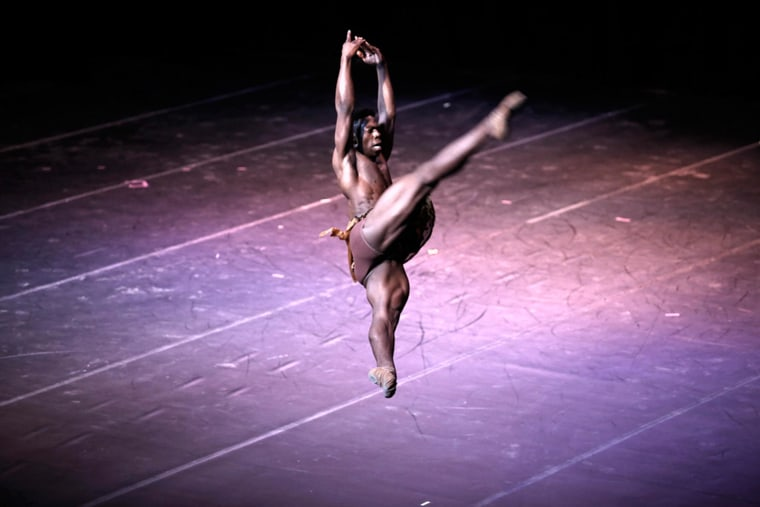 """The Washington Ballet's principal dancer, Brooklyn Mack in Havana performing a scene from the ballet """"Diana and Acteon."""""""