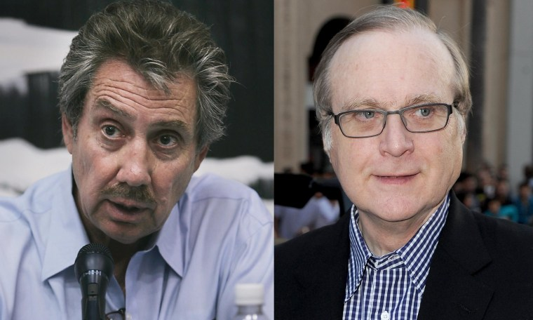 Robert Bigelow of Bigelow Aerospace (left) and Stratolaunch's Paul Allen (right).