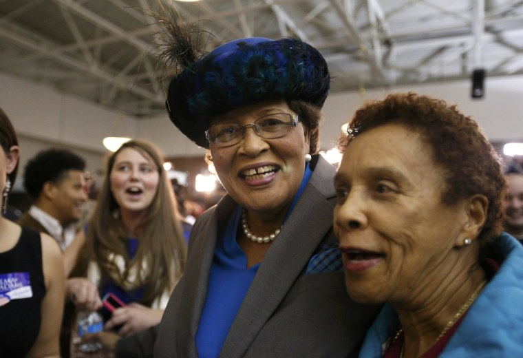 Image: Democratic Representative Alma Adams celebrates her re-election to the U.S. House of Representatives at an election night rally in Greensboro
