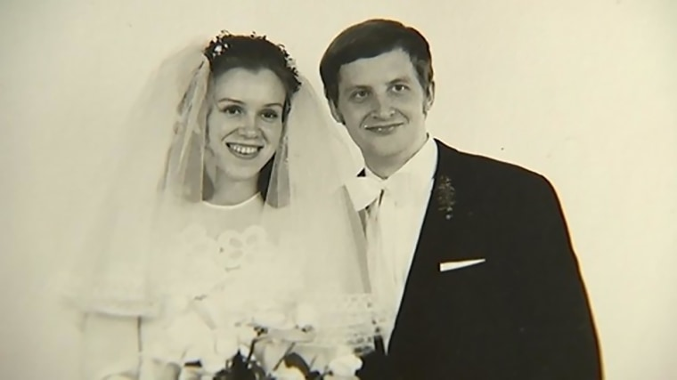 Regina and Eckhard Albrecht on their wedding day.