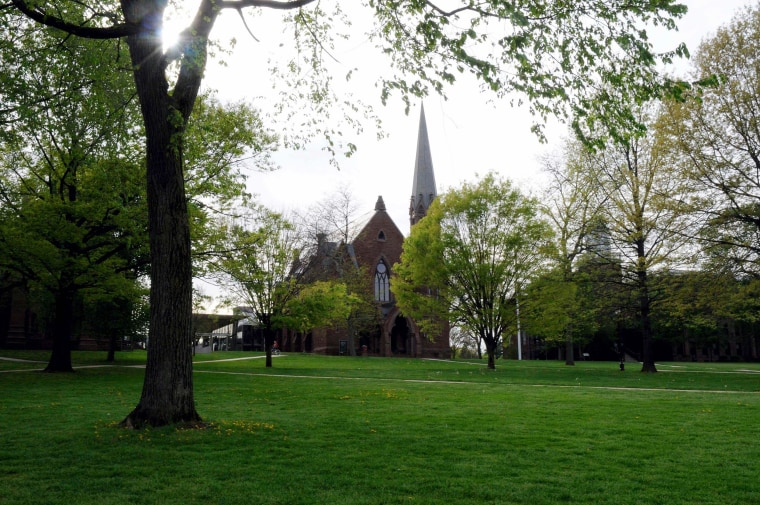 The main green of Wesleyan University in Middletown, Conn. on May 6, 2009.