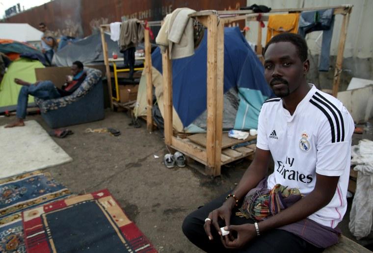 Image: Karam Hassan Hassan in Calais, France
