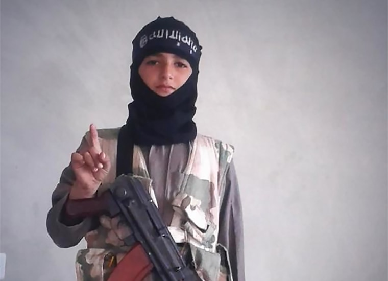 Image: Self-proclaimed Syrian fighter with ISIS tweeted images of boy he says is son on Oct. 28