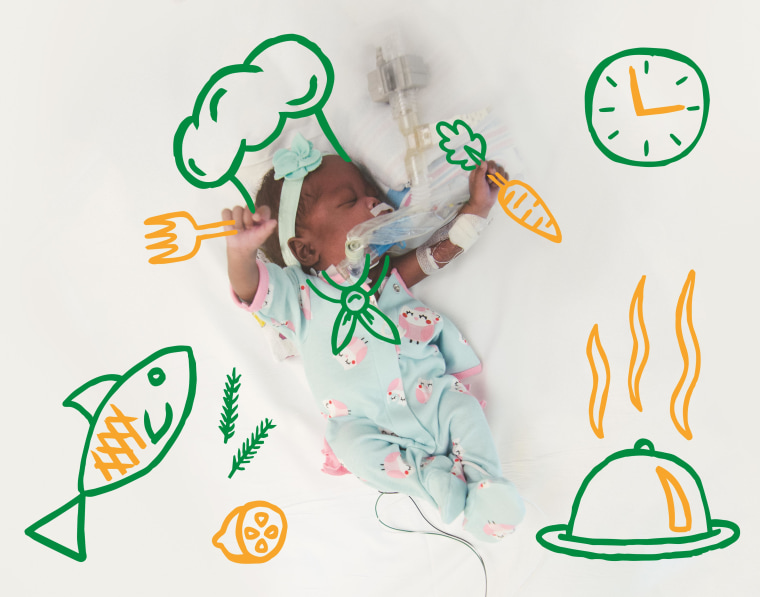 """As part of the """"From the NICU to the Moon"""" series, nurses at Children's Healthcare of Atlanta showed Arianna as a future chef."""
