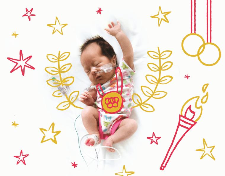 Carolina, the baby Olympian, is hardly ever still in her crib.