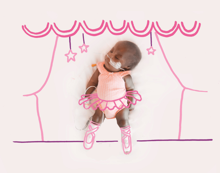 Sofia, the ballerina, has been able to leave the NICU and go home with her parents.