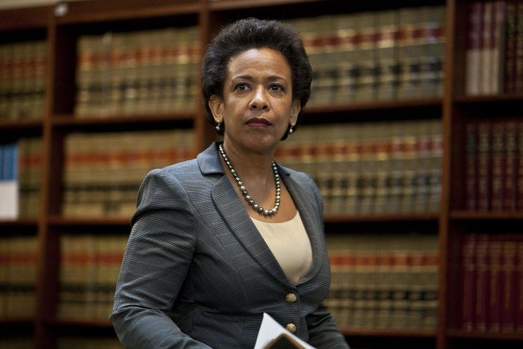 Image: FILE: Obama Expected To Pick Loretta Lynch For Attorney General Justice Department Officials Announce Charges Against HSBC