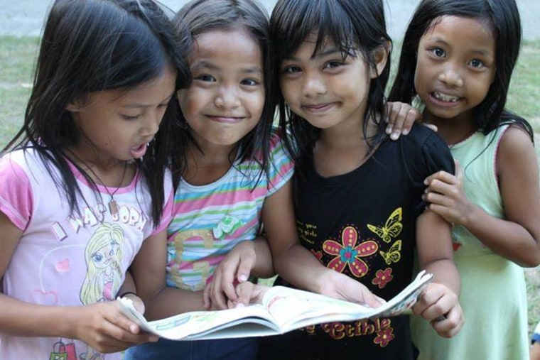 One year after Typhoon Haiyan ravaged much of the Philippines, one volunteer project is working to bring back the books lost to the storm for the children in some of the worst affected areas.