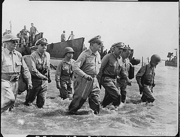 Image: MacArthur landing at Leyte