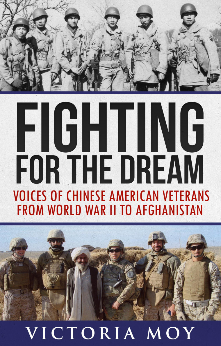 Book cover Fighting for the Dream: Voices of Chinese American Veterans from World War II to Afghanistan.