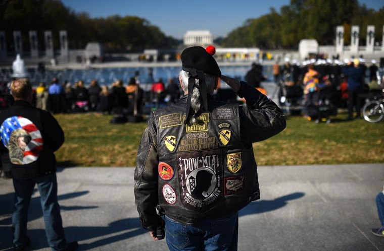 Image: Veterans Day Commemorated At DC's World War II Memorial
