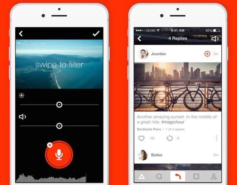 Ocho is an all-video social network that emphasizes ease of use with its 8-second clips.