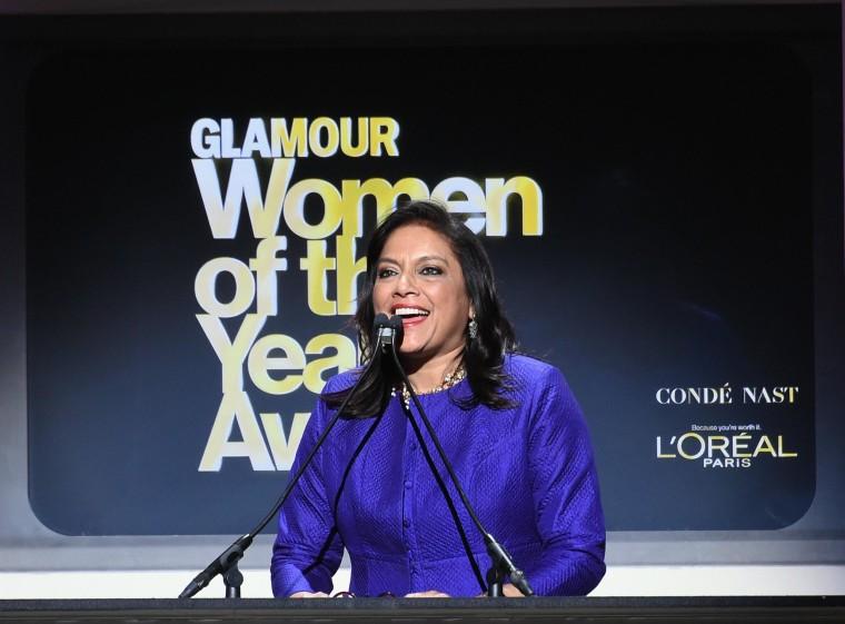 Image: Mira Nair at 2014 Glamour Women of the Year Awards