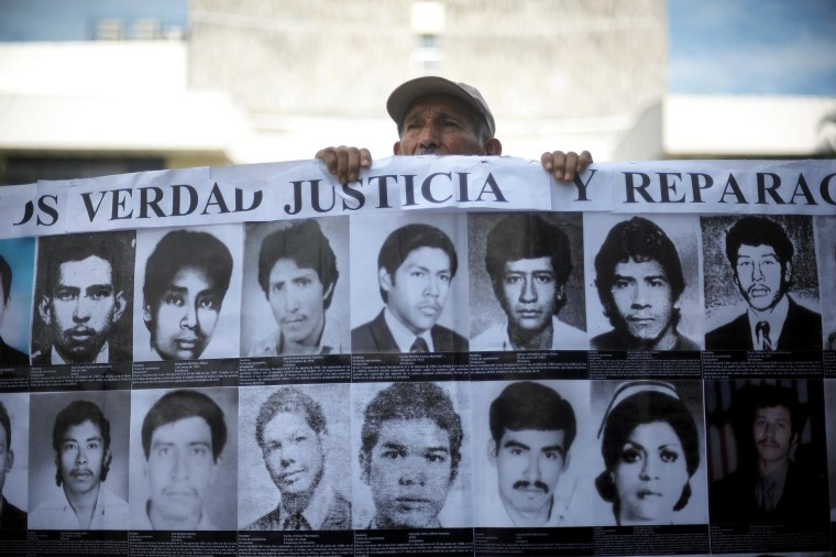 Human rights activists and relatives of