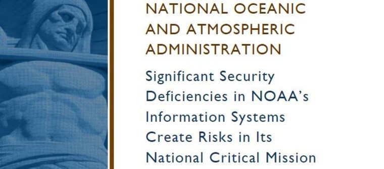 IMAGE: Report on NOAA security