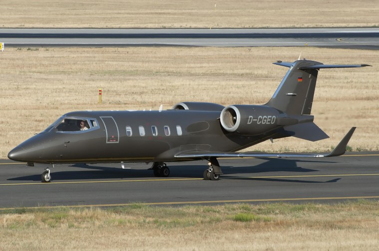A Learjet 60, registration number D-CGEO, photographed in Budapest, Hungary.