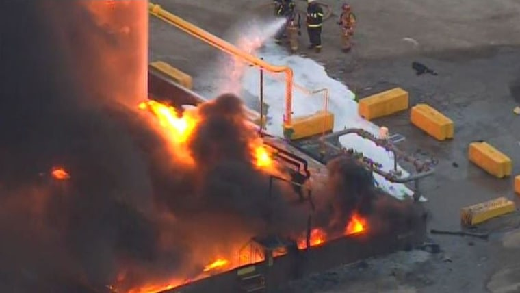 Explosion and Huge Fire at Texas Concrete Plant