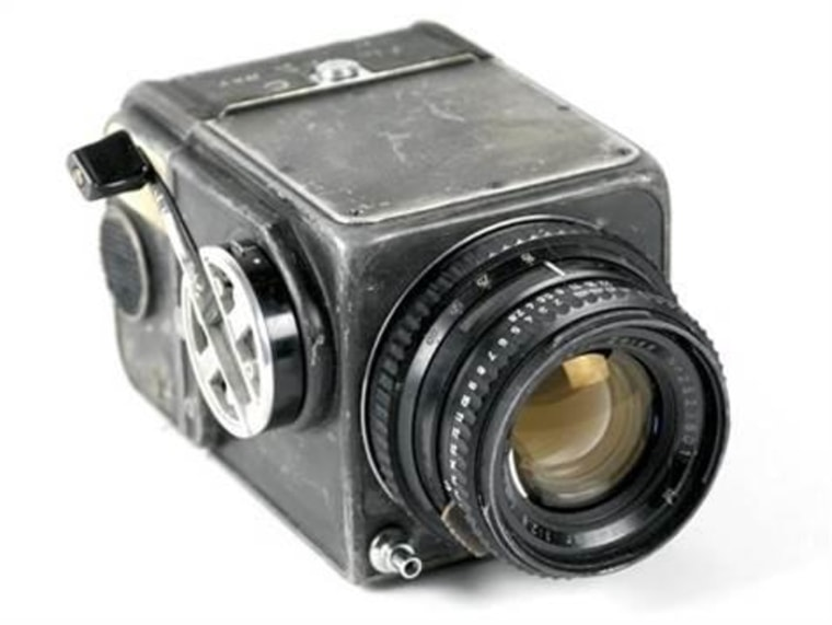 The Hasselblad camera body and Zeiss lens carried into orbit onboard NASA's Mercury-Atlas 8 mission in 1962 where it was used by astronaut Wally Schirra, and again on Mercury-Atlas 9 in 1963 where it was used by astronaut Gordon Cooper.