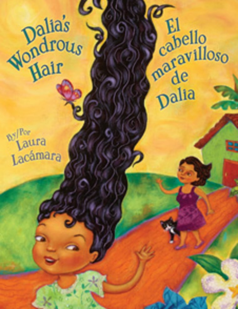 "Book cover, ""Dalia's Wondrous Hair"" by Laura Lacámara"