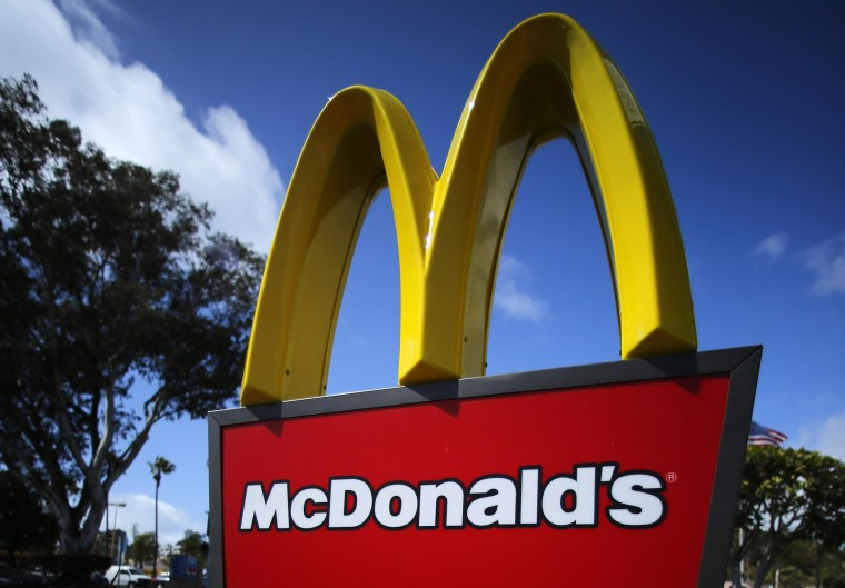 Image: File photo of a McDonald's restaurant sign at a McDonald's restaurant in Del Mar, California