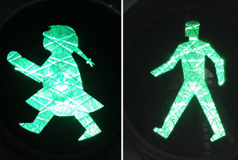 Image: traffic light man - traffic light woman - Ampelmann and Ampelfrau