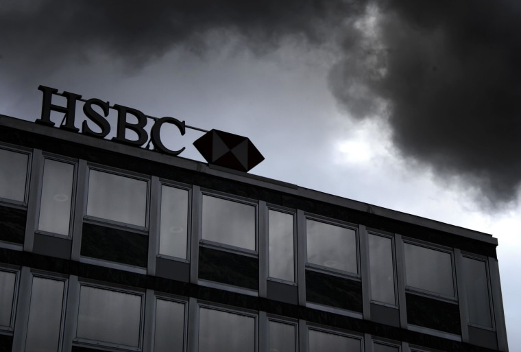 Image: HSBC private bank sign