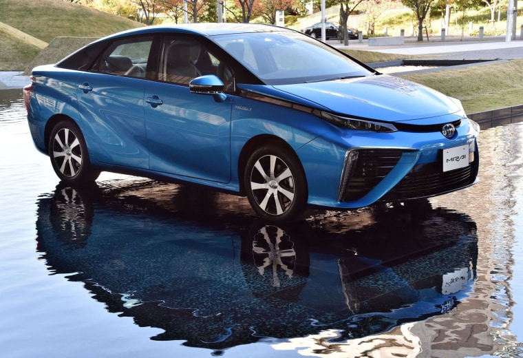 "Image: Japanese auto giant Toyota Motor's fuel cell vehicle ""Mirai"""