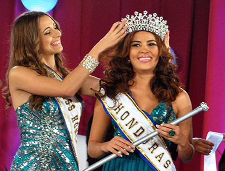 Image: HONDURAS-MISS HONDURAS-MURDER
