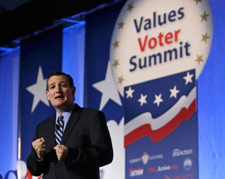 Image: U.S. Senator Cruz delivers remarks at Values Voter Summit in Washington