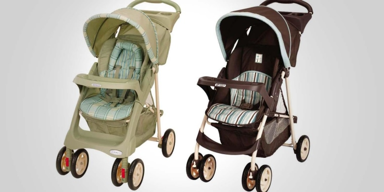 Two of the strollers recalled by Graco because of a fingertip amputation risk.