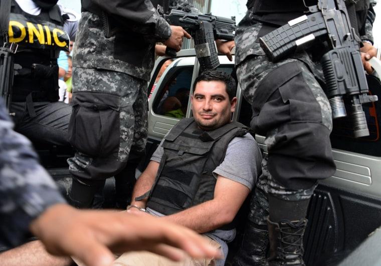 Image: The alleged murderer of former Miss Honduras Maria Jose Alvarado