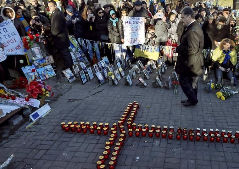 Image: Ukraine's President Petro Poroshenko in Kiev on Friday