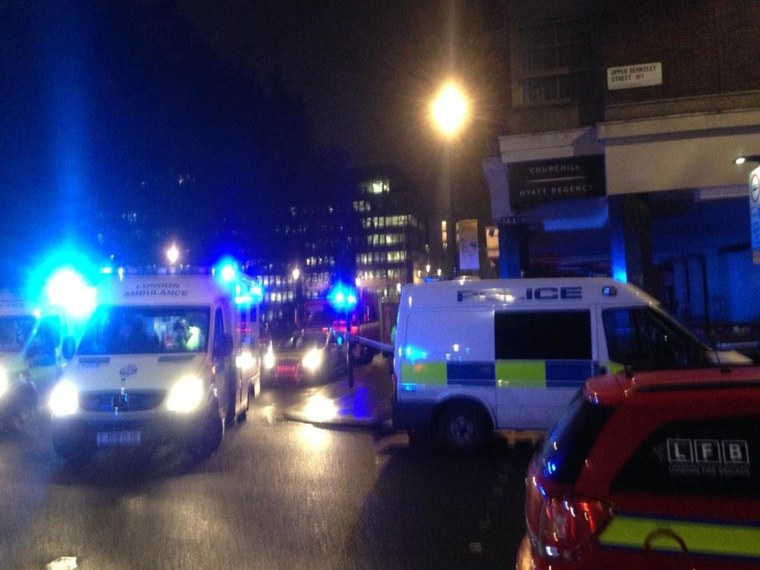 A gas explosion occurred at the five-star Hyatt Regency's The Churchill hotel in London on Nov. 21.