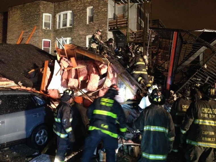 Image: Chicago Building Collapse
