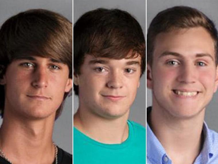 Dylan Adler Bieber, Hoyt Elliot Hardin, and Austin Ryan Augustine.