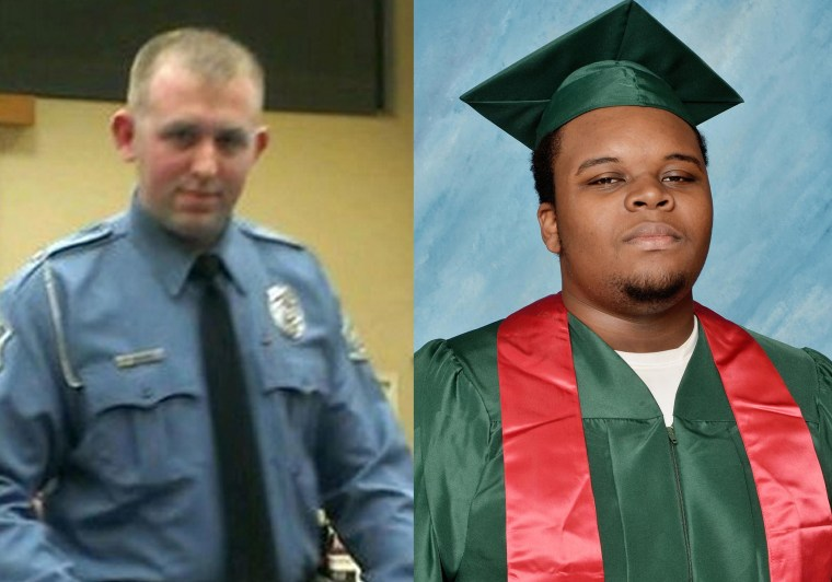 Image: Darren Wilson, Michael Brown.