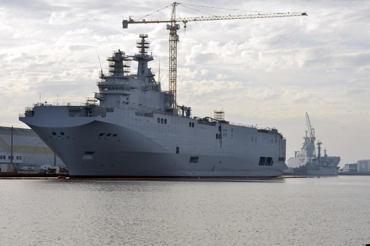Image: The Mistral-class assault warship Sevastopol