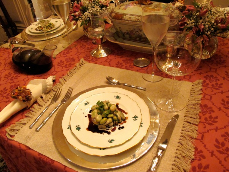 "Felipe Donnelly and Tamy Rofe's ""blended"" Thanksgiving table."